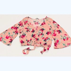 Bell Sleeve Floral Print Top.
